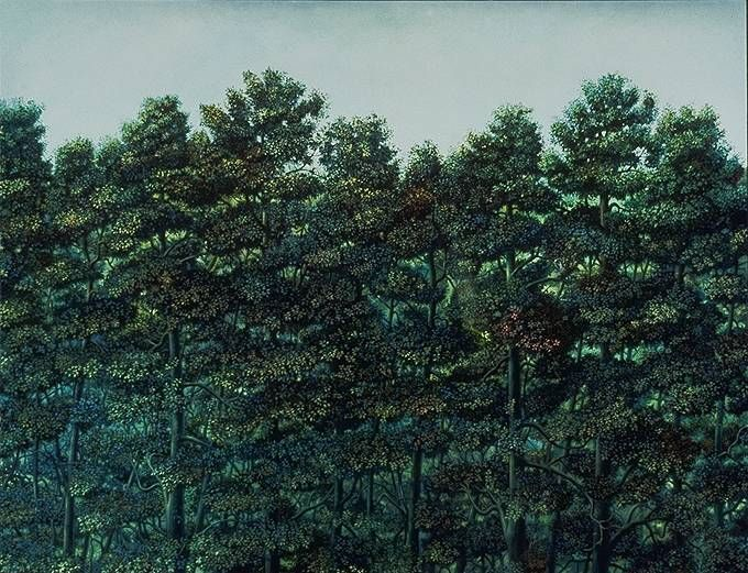 Trees with Ear - Painting by Philip Ayers