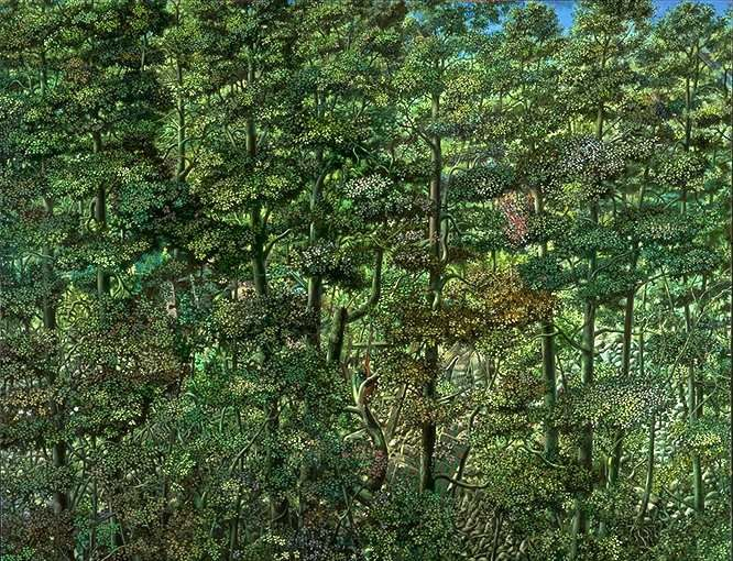 Woods - Painting by Philip Ayers