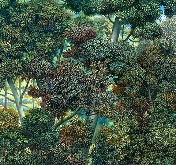 Looking into Foliage  - Painting by Philip Ayers