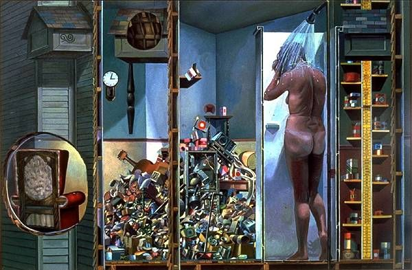 The Shower - Painting by Philip Ayers
