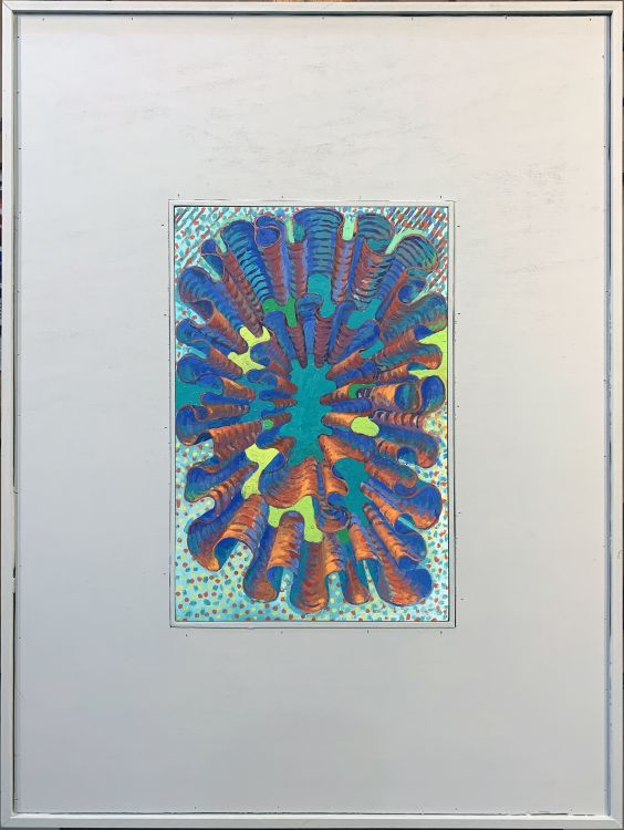 Hyperbolic Plane: Space #2 in Frame - Painting by Philip Ayers
