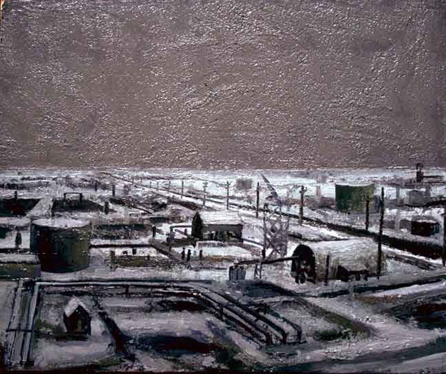 Outpost - Painting by Philip Ayers