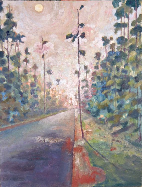 Carolina Road - Painting by Philip Ayers