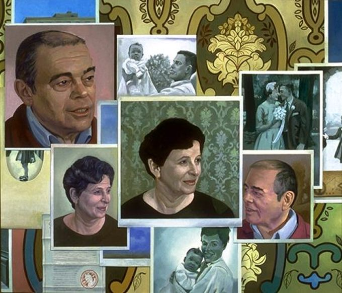 Portrait Wall - Painting by Philip Ayers