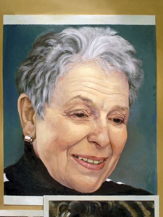 Elaine Leventhal - Painting by Philip Ayers