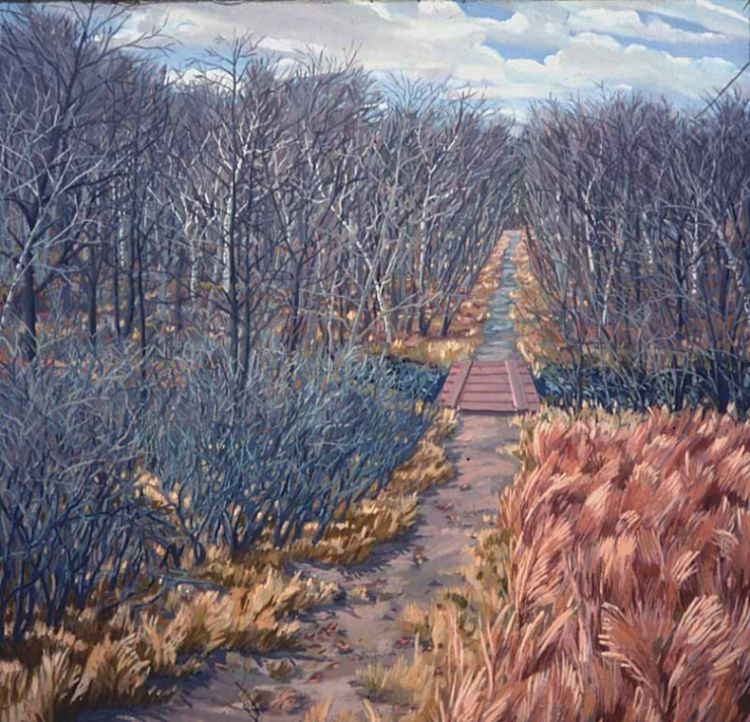 Path - Painting by Philip Ayers