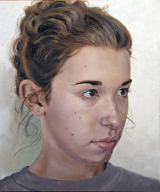 Young Woman - Painting by Philip Ayers