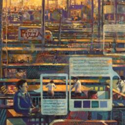 Pizza Order - Painting thumbnail by Philip Ayers