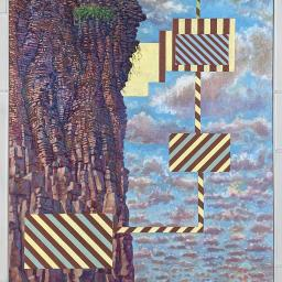 Cliff with Signs - Painting thumbnail by Philip Ayers