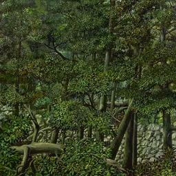 Forest with Wheel - Painting thumbnail by Philip Ayers
