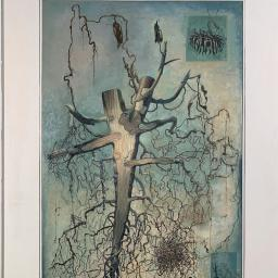 Root with Cross-section (Framed) - Painting thumbnail by Philip Ayers