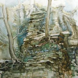 Cliff Study - Painting thumbnail by Philip Ayers