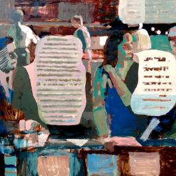 Office Chat Sketch - Painting thumbnail by Philip Ayers
