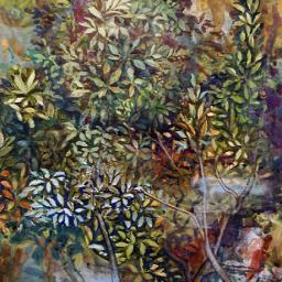 Cliff with Vegetation - Painting thumbnail by Philip Ayers