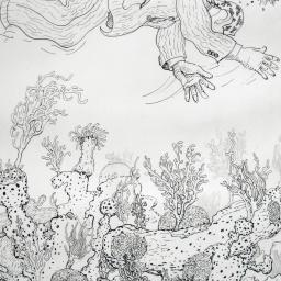 Drawing for Elizabeth (Man in Seersucker Snorkeling) - Painting thumbnail by Philip Ayers