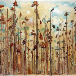 Tall Pines - Painting thumbnail by Philip Ayers